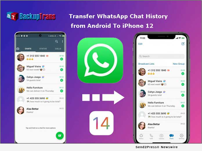 Backuptrans Updated to Transfer WhatsApp from Android to iPhone 12