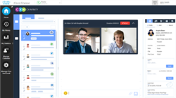 Video chat for Cisco Finesse contact centers